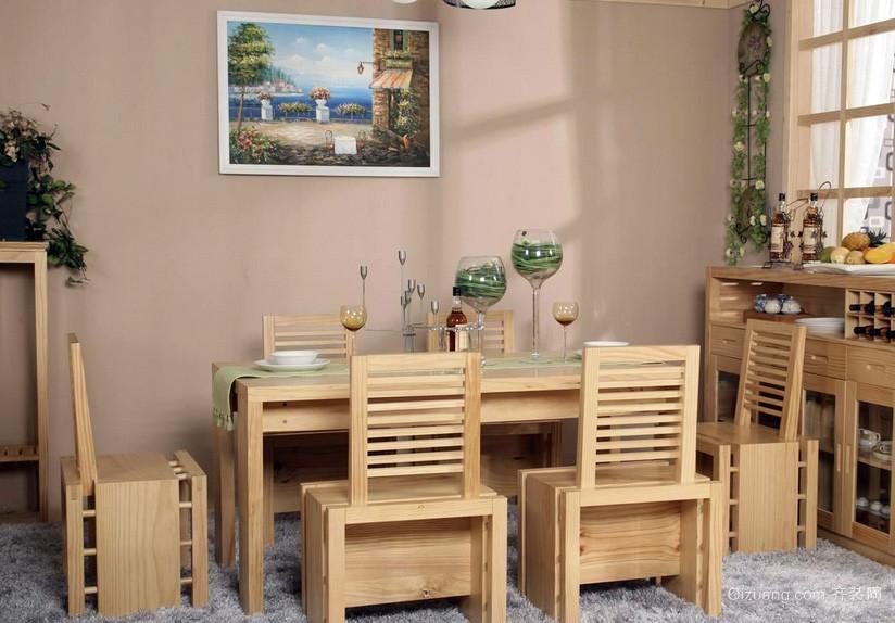 现代原木色小餐厅家具装修效果图
