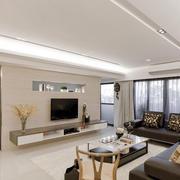 两室一厅现代简约家装客厅图片