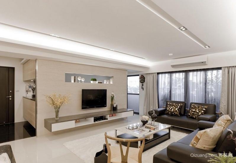 现代美式风格三居室卧室窗帘效果图 齐装网装修效果图
