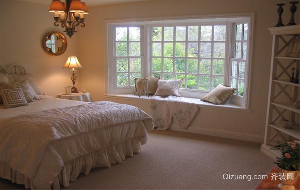110平米欧式大户型卧室背景墙飘窗装修效果图