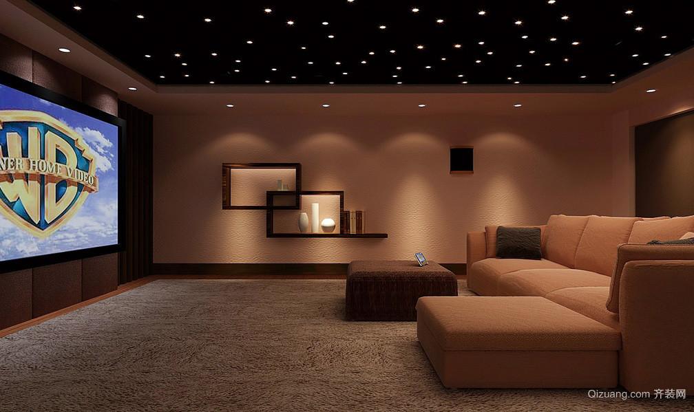 大复式楼简约家庭影院沙发装修效果图