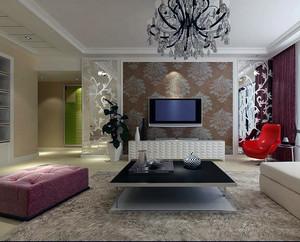 90平米大户型欧式客厅电视机背景墙装修效果图