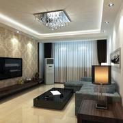 98平米现代简约家装客厅装修图片