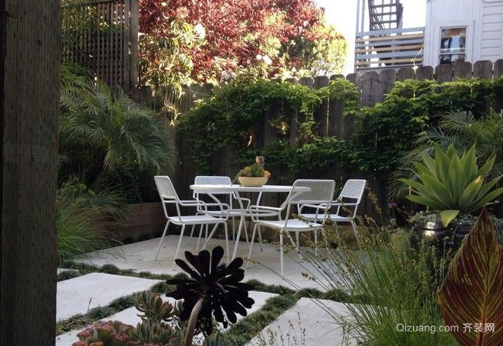 2016自然唯美别墅阳台花园设计效果图
