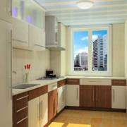 2016大户型欧式家庭开放式厨房装修效果图