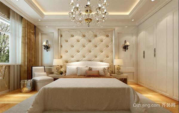 2016经典欧式大户型家庭室内卧室背景墙装修效果图