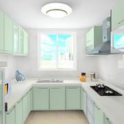 厨房浅绿色厨柜