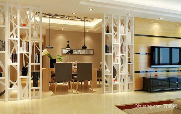90平米欧式大户型精致客厅隔断装修效果图