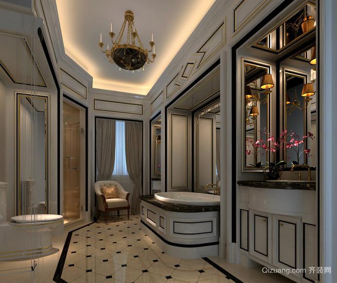 2016大方美观美式装修风格卧室样板房效果图鉴赏高清图片