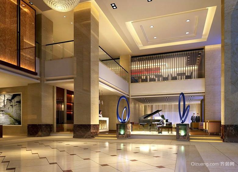 都市高级豪华酒店大厅装修设计效果图