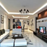 120平米大户型经典欧式室内装修效果图大全