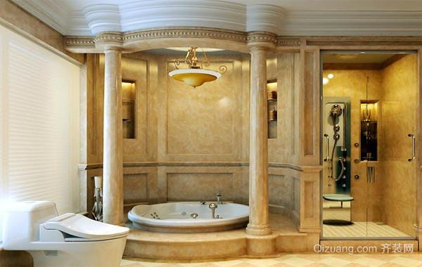 90平米大户型欧式精致家庭卫生间装修效果图