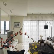 小户型客厅窗帘欣赏