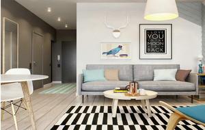 都市青春亮丽一居室新房装修效果图