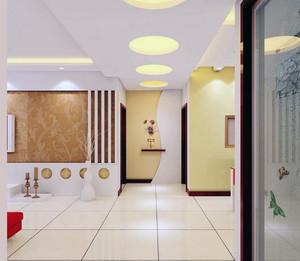 90平米大户型精致欧式客厅玄关装修效果图