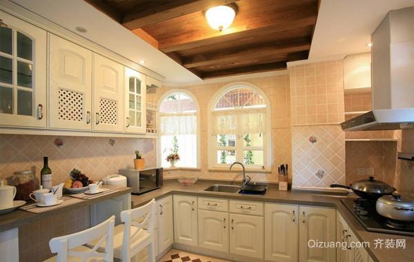 朴素都市大户型厨房厨柜装修效果图