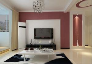 现代简约120平米家居电视背景墙效果图