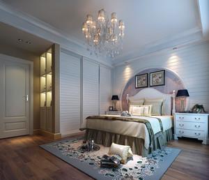 2016经典大户型欧式简约卧室背景墙装修效果图
