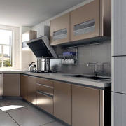 现代厨房不锈钢厨柜
