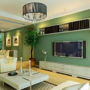 绿色海藻泥电视背景墙