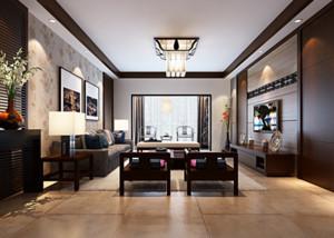 三居室精致的大气中式客厅装修效果图鉴赏