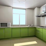 厨房绿色有活力的厨柜