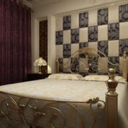 2016大户型欧式卧室软包背景墙装修效果图鉴赏