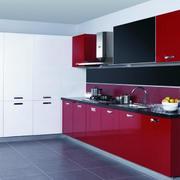 厨房红色时尚厨柜