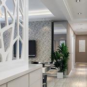 纯白色调客厅造型图
