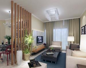 120平米房子大户型欧式客厅隔断装修效果图