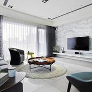 灰白色的电视背景墙