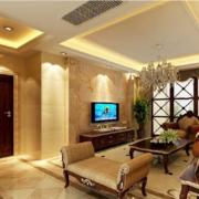 大户型现代室内欧式硅藻泥电视背景墙装修效果图