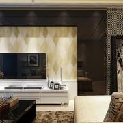 瓷砖电视背景墙设计