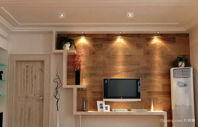 2016现代简约大户型客厅电视墙背景效果图
