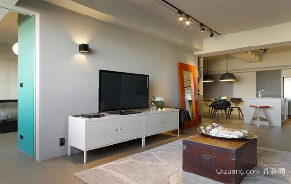 2016两室一厅现代简约电视背景墙效果图