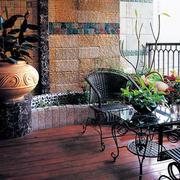 新古典大户型家居阳台花园设计效果图