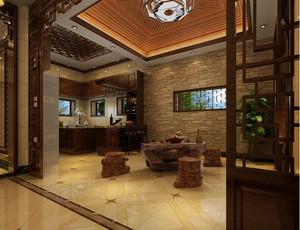 2016中式古典复式楼吧台设计图片