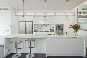 全新现代别墅开放式厨房吧台设计图片