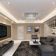 客厅舒适布艺沙发欣赏