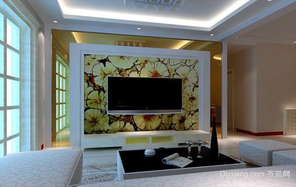 精致宜家两居室客厅电视背景墙效果图