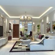 前卫现代50平米小户型客厅装修效果图