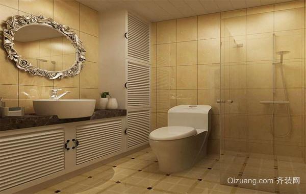 2016三居室现代欧式小卫生间吊顶装修效果图
