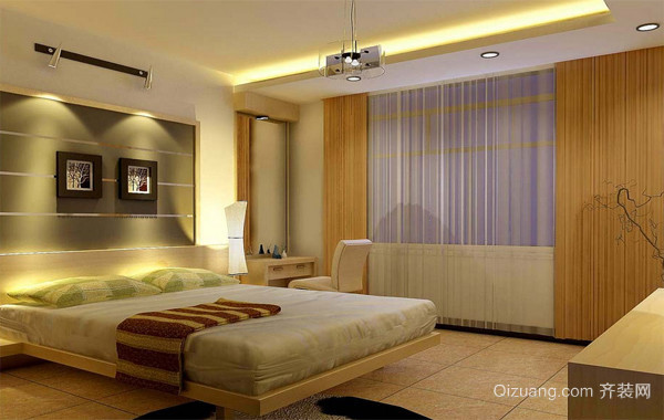 2016精致的大户型欧式房间卧室背景墙装修效果图