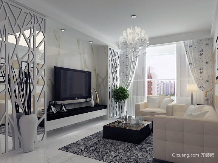 2016经典欧式大户型客厅背景墙装修效果图鉴赏