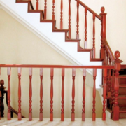100平米大户型欧式实木楼梯装修效果图鉴赏