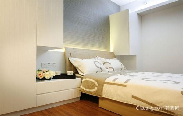 120平米大户型简约风格卧室背景墙装修效果图