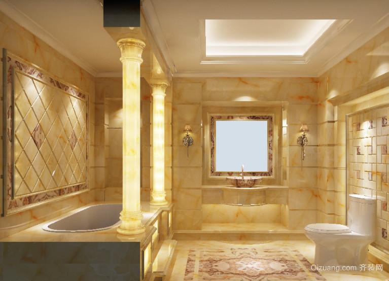 80平米小户型精致欧式浴室吊顶装修效果图