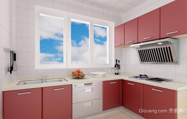 2016精美的大户型欧式厨房厨柜装修效果图