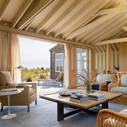 现代室内实木吊顶