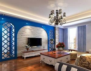 地中海风格小户型客厅电视背景墙图